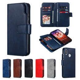 Wholesale Multifunction Wallet Case For Xiaomi MI Lite Redmi NOTE X Samsung Galaxy A30 A20 A50 A40 A70 A10 Huawei Y9 Card Holder Cover
