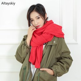 $enCountryForm.capitalKeyWord Australia - Scarves Women Soft Long Faux Cashmere Solid Scarf Warm Winter Korean Style Elegant Trendy Womens Wraps All-match Lovely Daily