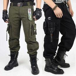 Haute Qualité Sports de plein air Randonnée multi-poches Casual Salopette camouflage Armée Vêtements Pantalon tactique Pantalons pour hommes Mode en Solde