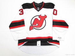 Brodeur Jersey Xl Australia - Cheap custom MARTIN BRODEUR NEW JERSEY DEVILS AWAY JERSEY stitch add any number any name Mens Hockey Jersey XS-6XL