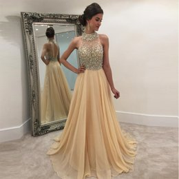$enCountryForm.capitalKeyWord Australia - Luxury Beads Long Prom Dresses Sweetheart Neck Sleeveless Crystal Sexy Backless Tulle Floor-Length Formal Prom Gowns 2019