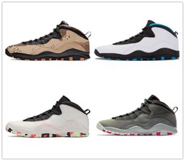 sheepskin wholesale NZ - Wings Woodland Camo Grey Cement Steel Westbrook Mens Basketball Shoes Jumpman 10 Men Trainers Sports Sneakers