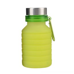water bottle green Canada - Outdoor Travel Sports Folding Silicone Water Bottle Kettle Cup Green and & Outdoor Travel Sports Folding Silicone Water Bottle Kettle Cup Gr