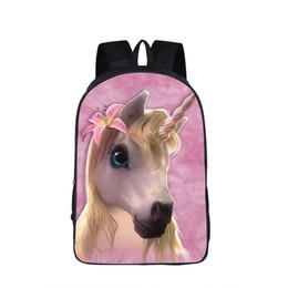 $enCountryForm.capitalKeyWord NZ - Fantastic Unicorn Horse Print Backpack School Bags For Teenange Boys Girls Nylon Backpacks School Book Bags Teenangers Mochila Y190530