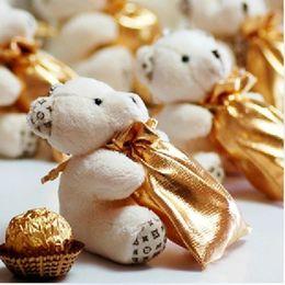 $enCountryForm.capitalKeyWord NZ - Cute Cartoon Bear with Candy Bag Set Fashion Packing Bags Wedding Favor Party Chocolate Holder