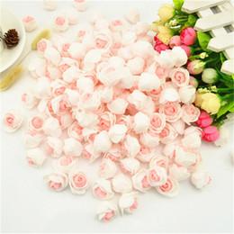 $enCountryForm.capitalKeyWord NZ - 20pcs Pink Rose Head Handmade Artificial Cheap Wedding Decoration Diy Wreath Needlework Gift Box Scrapbooking Fake Flower C19041701