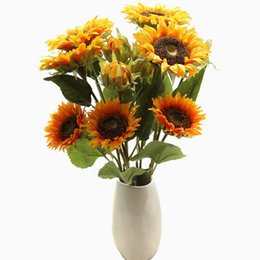 $enCountryForm.capitalKeyWord Australia - Sunflower Artificial Flower Bridal Flowers bridesmaid Bouquet Wedding Party Decorations Home Room Decor Celebration Decorative Flower CLS520