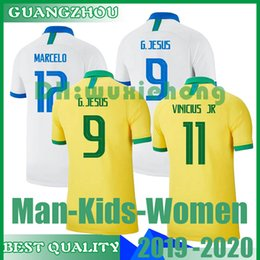 960e1c93d24 2019 Brazil American Cup football team jersey men jersey VINICIUS FIRMINO  football jersey women's World Cup custom football kids shirt