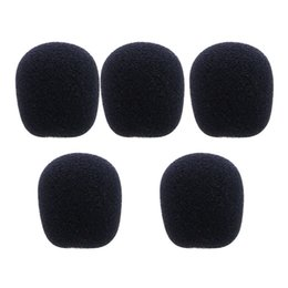 $enCountryForm.capitalKeyWord UK - OOTDTY New 2017 arrival 5PCS 5 Sizes Black Microphone Windscreen Headset Foam Sponge Mic Cover