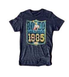 Products Usa Australia - Free shipping High Quality Milan Fashion Week Rodeo Las Vegas 1985 USA Top&Tee 2019 New Product women's Monogrammed short-sleeved T-shirt
