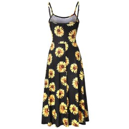 2018 Summer Amazon Explosion Lady Sexy Backless Printed loose sling A dress  with a big pendulum 3c1208824770