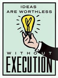 $enCountryForm.capitalKeyWord Australia - Alec Monopoly Ideas vs Execution Handpainted  HD Print Cartoon Graffiti Pop Art Oil Painting on Canvas office culture Multi Sizes  Frame 204