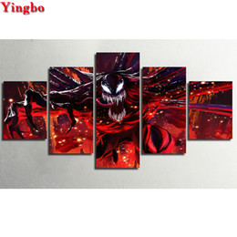 $enCountryForm.capitalKeyWord Australia - 5D DIY Diamond Painting Cross Stitch Venom Movie Poster diamond embroidery Full Square round diamond mosaic decor home 5 pcs