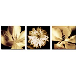 $enCountryForm.capitalKeyWord Australia - 3 Panels Canvas Painting White Flowers Picture Prints Artworks Modern Wall Art for Home Bedroom Living Room Decoration Stretched Framed