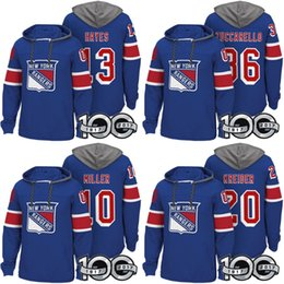 New Youk Rangers Hockey Hoodies Mats Zuccarello Henrik Lundqvist J.T.  Miller Kevin Hayes Chris Kreider Rick Nash Henrik Lundqvis Pullover 693364591