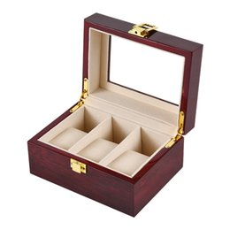 Discount 3g box - 3-Slot Wooden Watch Watch Box Rectangular Storage Box For Expensive Display Series 3G