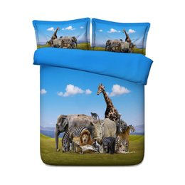 $enCountryForm.capitalKeyWord UK - Animal Zoo Kids Boys Duvet Cover Set Giraffes Girls 3 Piece Bedding Set With 2 Pillow Shams Animal Bear Zebra Elephant Duck Tiger Lion