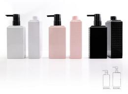 silicone covers for bottles 2019 - 500ml Shampoo Bottles PET Plastic Pump Bottle Makeup Bathroom Liquid Shampoo Bottle Travel Dispenser Bottle Container Fo