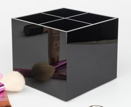 $enCountryForm.capitalKeyWord Australia - 2020 Classic Acrylic 4 gridWomen Makeup Tools Holder Cosmetic Brush Bucket Beauty Pen Storage Box Beauty Case With Gift Box