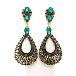 Vintage Copper Hoop Earrings UK - Vintage Classic Dangle Earrings Versatile Style Jewelry Hoop Earrings Copper Inlaid Zircon Earring Jewelry Accessory GIFTS