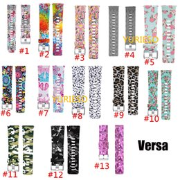 Wholesale Printed Silicone Replacement Band Bracelet Strap Wrist Watchband for Fitbit Versa Smart Fitness Watch patterns for Men Women S L Size