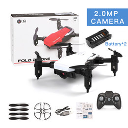 Discount camera ready - LF606 Wifi FPV RC Fold Drone Quadcopter With 0.3MP 2.0MP Camera 360 Degree Rotating Outdoor Flying Aircrafts DHL