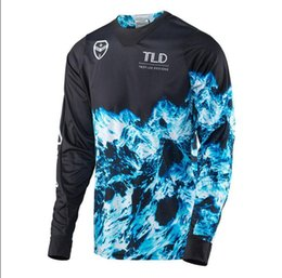 Uv shirts men online shopping - TLD speed drop suit t shirt bicycle mountain bike Jersey long sleeved shirt male off road motorcycle locomotive suit