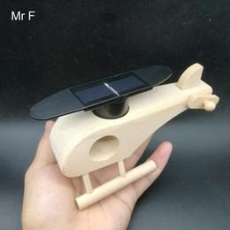 $enCountryForm.capitalKeyWord Australia - Kid Gift Creative Solar Powered Wooden Helicopter Model Sunlight Toys Kit Gadgets Educational Toys