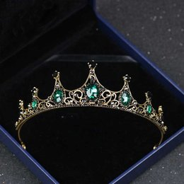 $enCountryForm.capitalKeyWord Australia - Retro Baroque Crown for Brides Wedding Hair Ornaments Crystal Bridal Crowns and Tiaras Women Party Pageant Prom Headpiece S521