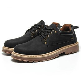 $enCountryForm.capitalKeyWord Australia - 2019 Autumn New Work Shoes Boots Mens Shoes Casual Fashion Tide Boots Men British Style Martin for Men Lace Up