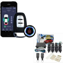 car master NZ - APP Remote Start For Car Fit Android PKE Keyless Entry Security Car Electronics + 12V 1 Master 3 Central Locking With 2 Remote