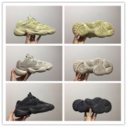 Discount new moon shoes - high quality 2019 new 500 Blush Desert Rat Super Moon Yellow running shoes 500 Salt Utility Black sneaker sports shoes w