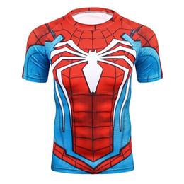 $enCountryForm.capitalKeyWord Australia - Summer 3D Print Compression T-Shirt Men Marvel Comic Superhero Spiderman Superman Batman Short Sleeve T Shirt Fitness Clothing