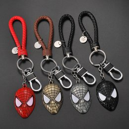 Spider Keychain Australia - Explosion Keychain Spider-Man Mask Personality Mobile Phone Bag Key Pendant Wholesale