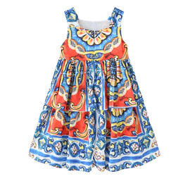 $enCountryForm.capitalKeyWord UK - Kids Birthday Dress Flowers Printed Girl Dress 2019 Brand Baby Girl Clothing Short Sleeve Summer Spring Dress for Kids Clothing