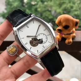 Discount automatic men watch china - All work LEATHER BELT SILVER 42MM CASE cheap CHINA mechanical automatic men watch wholesale fashion new Stainless steel