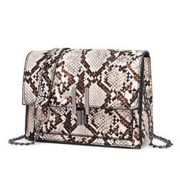 $enCountryForm.capitalKeyWord UK - Retro Serpentine Chain Square Crossbody Bags for Women Handbag Print PU Leather Shoulder Bag Female Snake Messenger Bag#YU