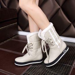 $enCountryForm.capitalKeyWord Australia - Hot Sale-New Wedges Platform Women Winter Snow Boots Black Thicken Mid-Calf Boot Ladies Botas Mujer Winter Shoes Yellow Footwear KBT1090