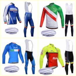 men pants italy Australia - ITALY team Cycling Winter Thermal Fleece jersey bib pants sets New Mens Cycling Clothing outdoor sportswear U81509