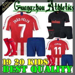 56412be3 2019 Atletico Madrid kids Joao Felix home Soccer Jersey KOKE MORATA Soccer  Shirt Customized SAUL DIEGO COSTA 19 20 boy Child football black
