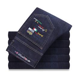 $enCountryForm.capitalKeyWord Australia - 2019 Hot Sale Fashion Designer Jeans Eden Top Quality Mens Jeans Shark Pants Park Brand Men Straight Dark Blue Maschi Pants
