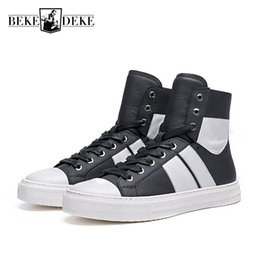 Brand Fashion Mens Hip Hop High Top Sneakers Mixed Colors Cow Genuine  Leather Flats Casual Shoes Tenis Masculino Jogger Trainers 425d1ee66632