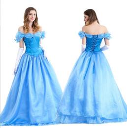 $enCountryForm.capitalKeyWord Australia - Princess Dress Halloween Costume Cinderella Adult Princess Costume Evening Dress For The Masquerade Cosplay snow White