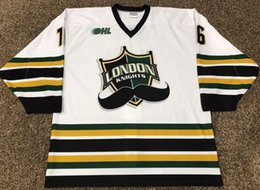 3907e4b0f Rare Vintage 2013-14 MAX DOMI Game Worn London Knights Hockey Jersey  Embroidery Stitched Customize any number and name Jerseys