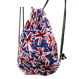 51e8ad3f33 Black Canvas Drawstring Bag UK - good quality Uk Flag Canvas Women Backpack  Pattern Fashion Backpacks