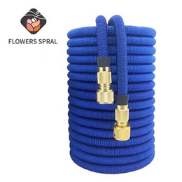expandable magic hose UK - 16 ft-100 ft Garden Hose flexible Expandable Magic Garden Watering Hose EU High Pressure Car Wash Watering & Irrigation