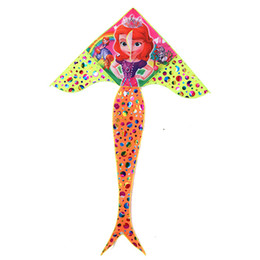 hot wings toys Australia - Children's kites outdoor sports toys new hot stamping 1.8m bright cloth mermaid kites