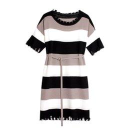 $enCountryForm.capitalKeyWord Australia - 2019 New Spring And Summer Fashion Postpartum Women Lactation Clothes Block Color Stripe Short Sleeve Breastfeeding Cotton Dress