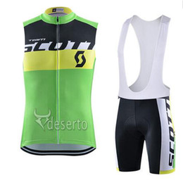 SleeveleSS cycle jerSeyS online shopping - 2019 NEW SCOTT team Cycling Sleeveless jersey Vest bib shorts sets Breathable hight quality Slim fit Top brand