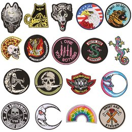 $enCountryForm.capitalKeyWord Australia - PGY New Punk Patch Rock Band Skull Patch Biker Iron On Jeans Badges Cheap Embroidered Motorcycle Patches For Clothes Stickers
